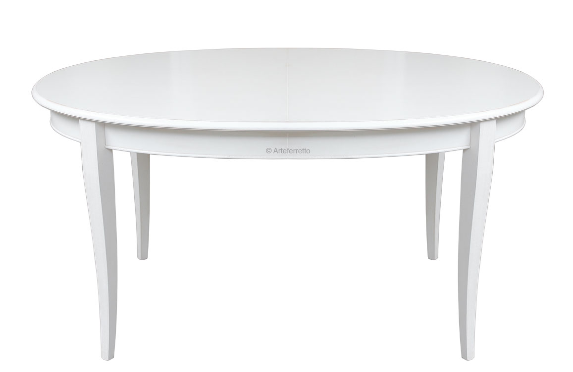 Table ovale de repas rallonge lamaisonplus - Table ovale rallonge ...