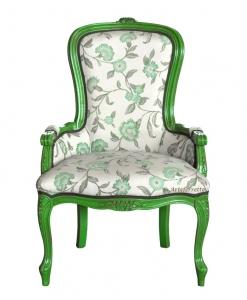 Fauteuil vert vif vieilli Colors