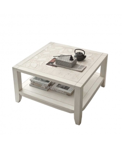 table basse de salon, finiton nature, table de salon carrée, achat table basse design