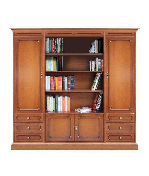Composition bibliothèque avec niche centrale ouverte réf. 215-A