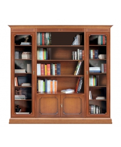 Bibliothèque composition modulaire portes vitrées, meuble vitrine bibliothèque, bibliothèque vitrine, bibliothèque modulaire, habiller un mur