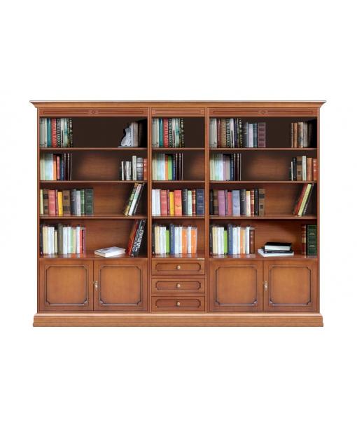 Bibliothèque mur entier 250 cm, meuble mural grandes dimensions ...