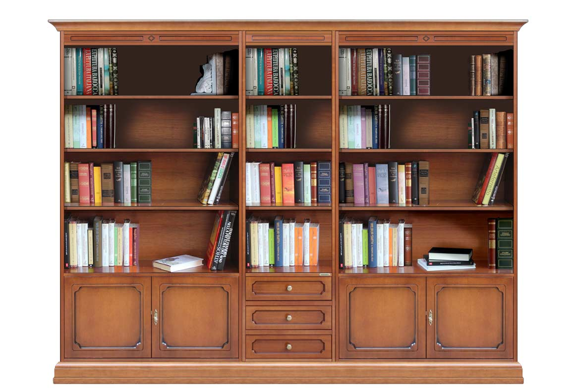 biblioth que mur entier 250 cm lamaisonplus. Black Bedroom Furniture Sets. Home Design Ideas