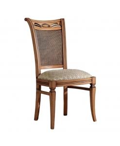 Chaise bois et tissu design classique