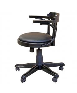Fauteuil de bureau avec roulettes, fauteuil de cabinet, fauteuil tournant, fauteuil noir de bureau