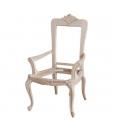 "Chaise ""Luxe Gold"" avec accoudoirs et feuille d'or, chaise élégante, chaise avec accoudoirs"