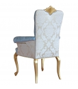 """Chaise """"Luxe Gold"""" avec accoudoirs et feuille d'or, chaise, chaise dossier rembourré, fauteuil, chaise élégante"""