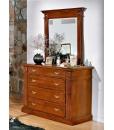 Commode classique en bois avec miroir réf. ME-06