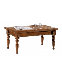 Table basse rectangulaire classic wood
