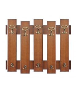 Portemanteau patère en bois 5 éléments Arteferretto
