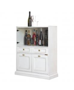 meuble bar, meuble bar blanc, petit meuble bar, meuble pour bouteilles