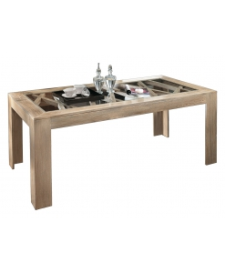 Table de repas en frêne , table moderne, table style contemporain, table en bois massif