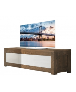 TV bicolore en frêne, meuble tv, banc tv, meuble tv contemporain, meuble tv design, meuble tv bicolore