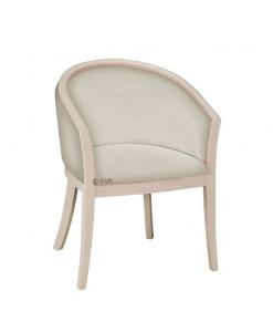 """Fauteuil contemporain """"Marée"""", fauteuil hall d'entrée, fauteuil salle d'attente, fauteuil chambre hotel, fauteuil bois clair"""