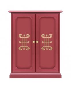 armoire à chaussure, armoire à chaussures, meuble à chaussures, meuble range chaussure, range chaussure entrée, rouge rubis