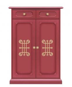 Meuble range-chaussures avec tiroir, armoire à chaussures, armoire rangement chaussures, rouge rubis