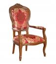 Fauteuil sculpté style Louis Philippe, louis philippe, mobilier louis philippe, fauteuil en bois, achat fauteuil tissu