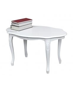 Petite table basse de salon Style XVIIIème siècle, table basse de salon, petite table blanche, table blanche pour salon, achat mobilier en ligne