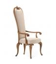 Chaise dossier haut, chaise rembourrée, chaise assise rembourrée, chaise bois massif, chaise pour salon classique