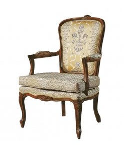 fauteuil louis XV, style louis xv, fauteuil, coussin, fauteuil en bois
