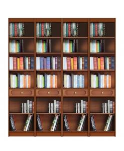 Meuble bibliothèque modulable, bibliothèque murale, meuble murale grande largeur, achat meuble bibliothèque, meuble modulable, bibliothèque modulable, bibliothèque studio