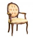 Fauteuil médaillon ovale, fauteuil classique, fauteuil, achat fauteuil en bois, fauteuil avec accoudoirs