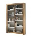 Bibliothèque rayonnage en bois de frêne, rayonnage livres, bibliothèque contemporaine, bibliothèque style contemporain