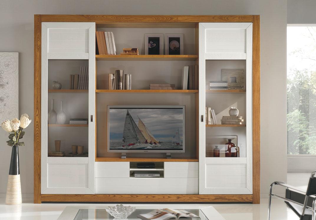 Meuble Tv Mural Avec Portes Coulissantes Lamaisonplus # Tv Living Avec Portes Coulissante