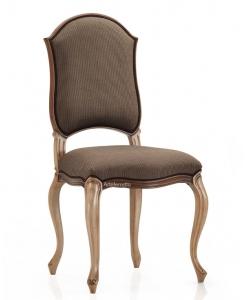 Chaise rembourrée style classique, chaise en bois, chaise cuisine, chaise pour salon, chaise rembourrée, chaise tissu