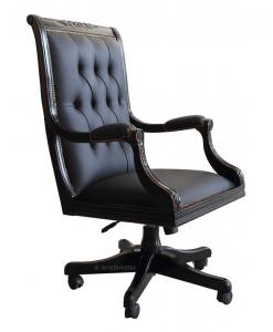 Fauteuil de bureau, fauteuil noir, fauteuil pour cabinet, fauteuil présidentiel