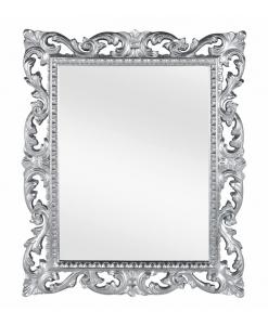 Miroir cadre en bois sculpté, cadre miroir, miroir argent, miroir classique