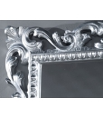 Miroir cadre en bois sculpté, miroir, miroir argent