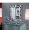 Miroir cadre en bois sculpté, miroir entrée, miroir pour chambre