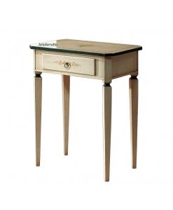 Petite table d'appoint avec tiroir, console petite taille, table de salon peinte à la main, table de salon petite taille, table de salon petites dimensions, table de salon petite dimension