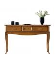 Console largeur 60 cm 3 tiroirs, console classique, table console, console tiroirs bois, console merisier, console hall d'entrée