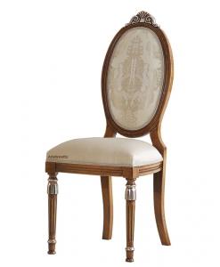 Chaise médaillon ovale et pieds cannelés, chaise dossier ovale, chaise dossier hait, chaise pour salon, chaise restaurant, chaise hôtel