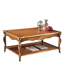 Table basse de salon avec étagère, table de salon, table basse de salon, table séjour