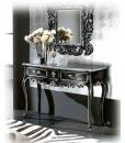 Console hall d'entrée noir et or, console et miroir, console et miroir entrée, console et miroir pour l'entrée, achat console noire, meuble console noir