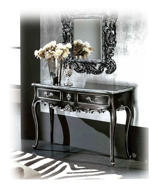 console hall d 39 entr e noir et or lamaisonplus. Black Bedroom Furniture Sets. Home Design Ideas