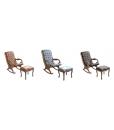 Fauteuil à bascule avec repose-pieds assorti, fauteuil à bascule, repose-pieds rembourré, promo meubles