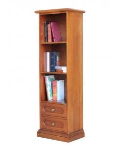 Bibliothèque étroite gain de place, bibliothèque basse, petite bibliothèque, meuble bibliothèque petite taille