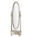 Miroir basculant inclinable sur pied, miroir basculant, miroir blanc, miroir ovale