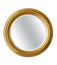 Miroir rond bois massif, miroir, miroir rond, miroir or, miroir