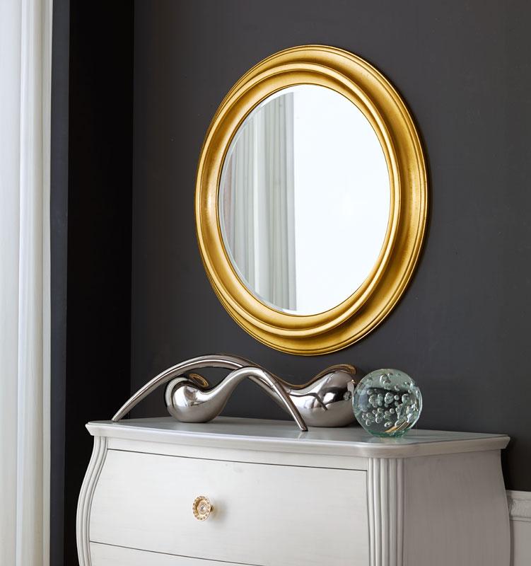 Miroir rond bois massif lamaisonplus for Miroir rond chambre