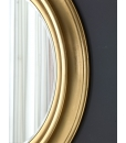 Miroir rond bois massif