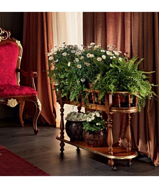 Porte plantes ovale 2 niveaux, porte plantes, porte-plante, porte pot de fleur