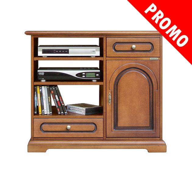 Promo meuble tv 1 porte 2 tiroirs lamaisonplus for Meuble porte secrete