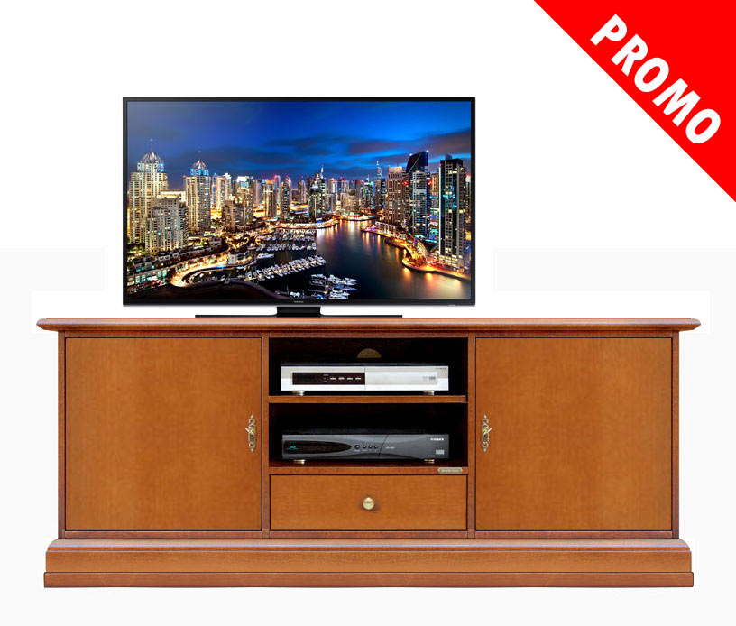 promo meuble tv bas largeur 153 cm lamaisonplus. Black Bedroom Furniture Sets. Home Design Ideas