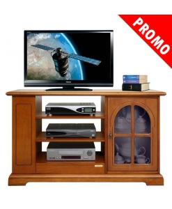 Meuble Tv classique avec porte vitrée, meuble tele, promo meuble TV