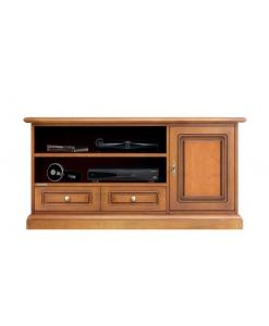 Meuble TV taille moyenne pour barre de son, meuble television, meuble barre de son, meuble tv en bois